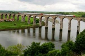 The famous viaduct over the River Tweed is in full view from Tweed View Care Home